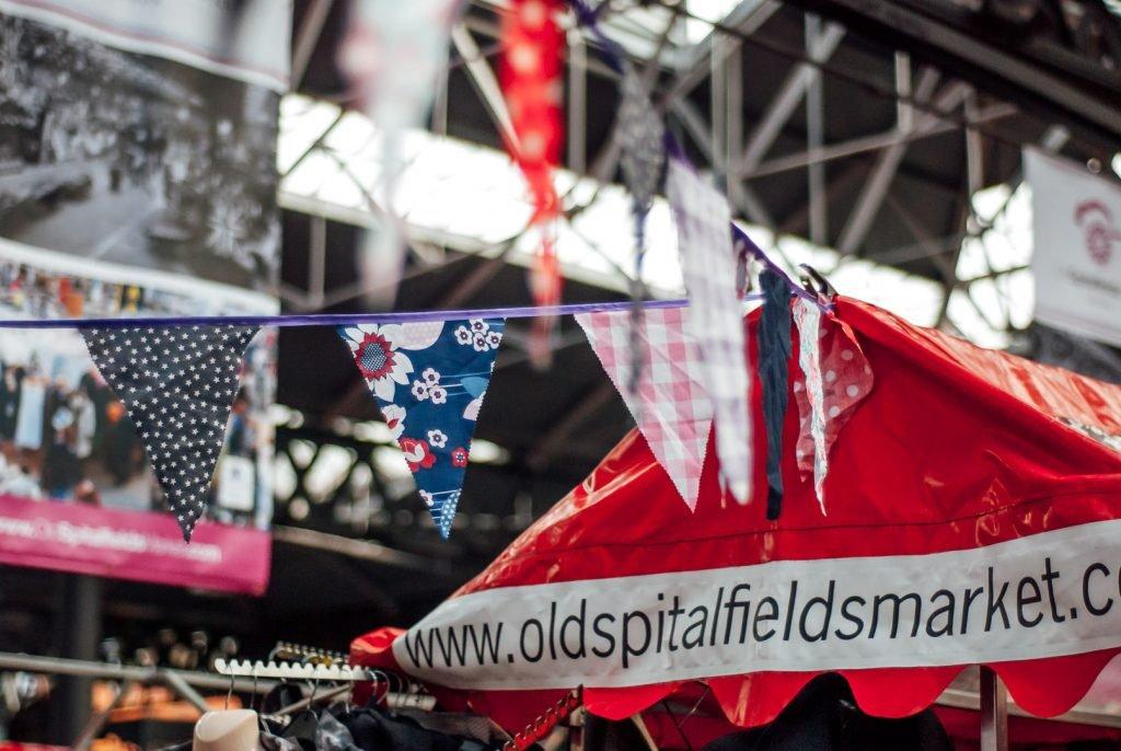 Old Spitalfields Market flags