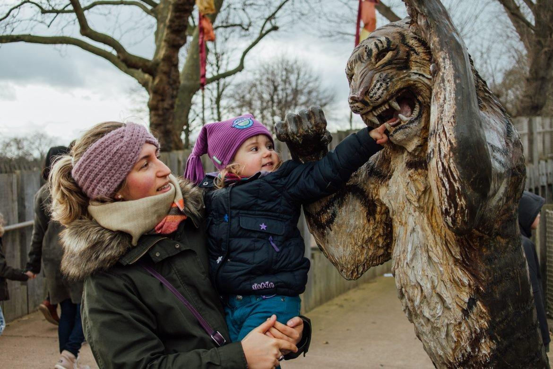 family visiting London Zoo