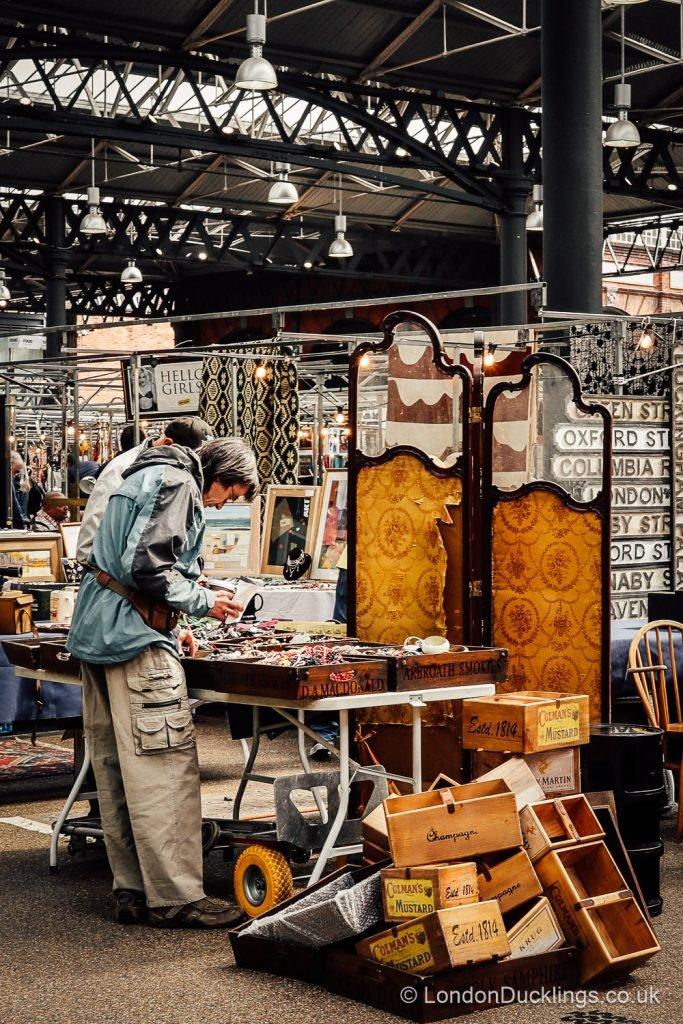 Antiques at Spitalfields Market