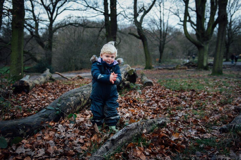 Walking in the woods, safe from coronavirus