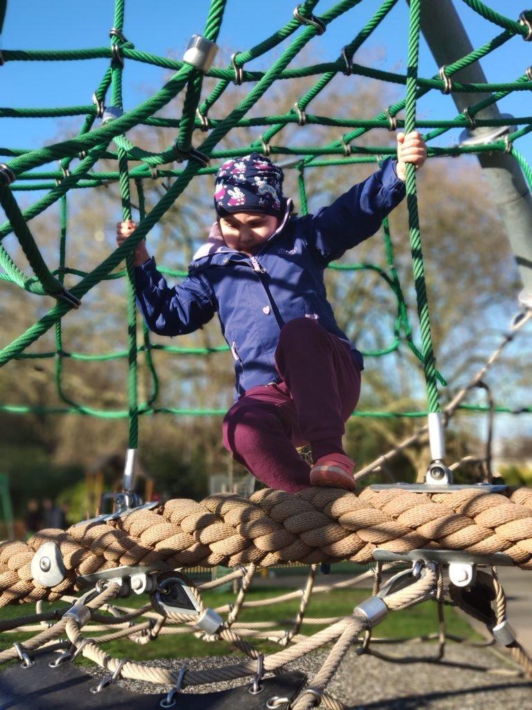 Climbing equipment in the playground