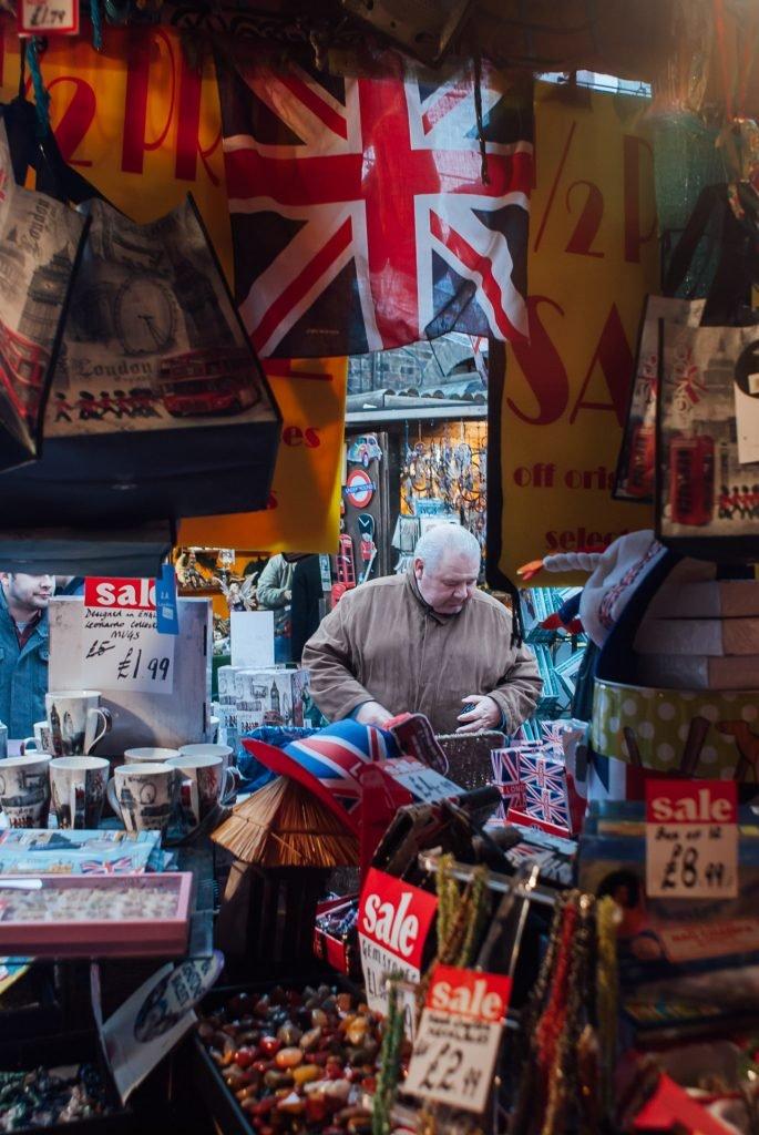 souvernir shop in camden market