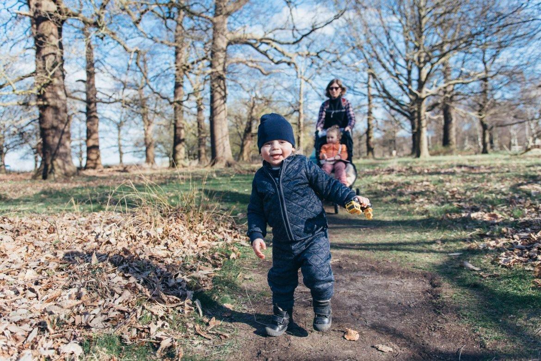 Family in park in east london