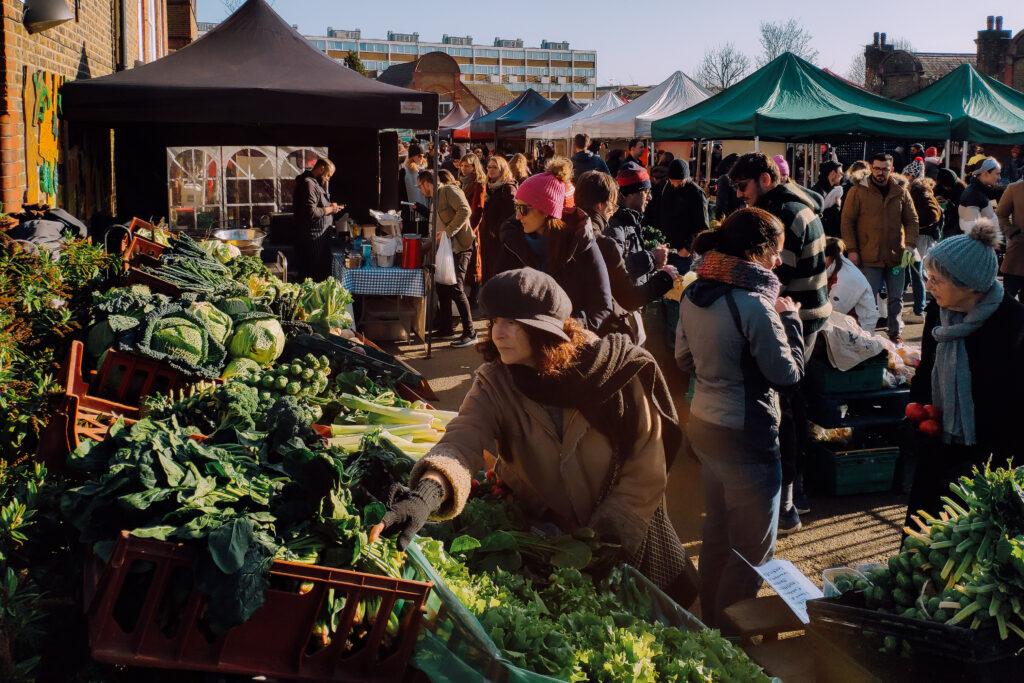 Alexandra Palace Farmer' Market in North London