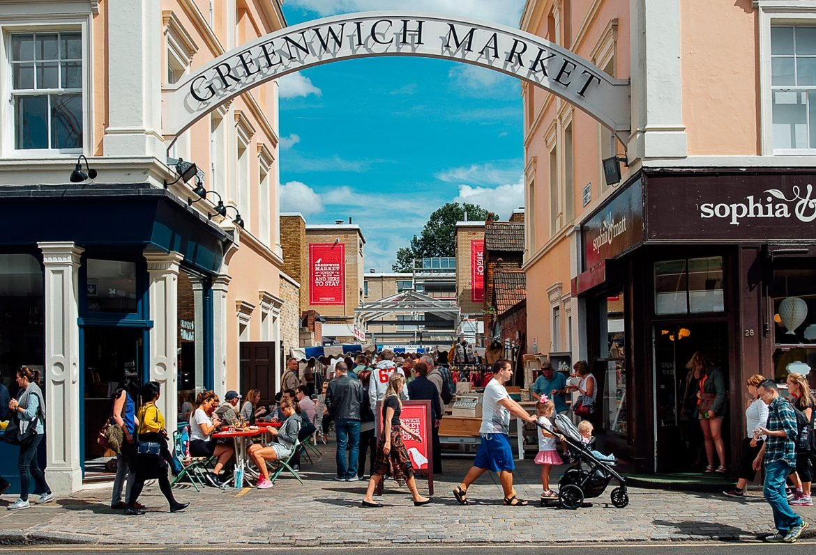 entrance to Greenwich market