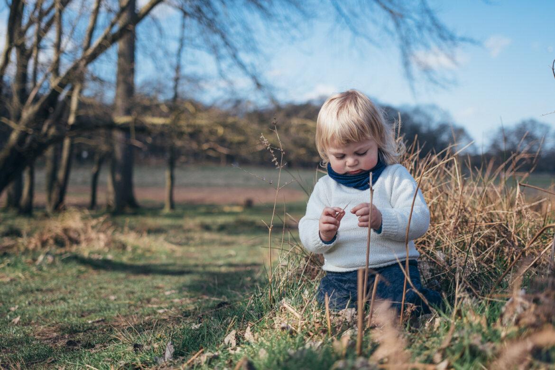 boy playing in Greenwich Peninsular Ecology Park