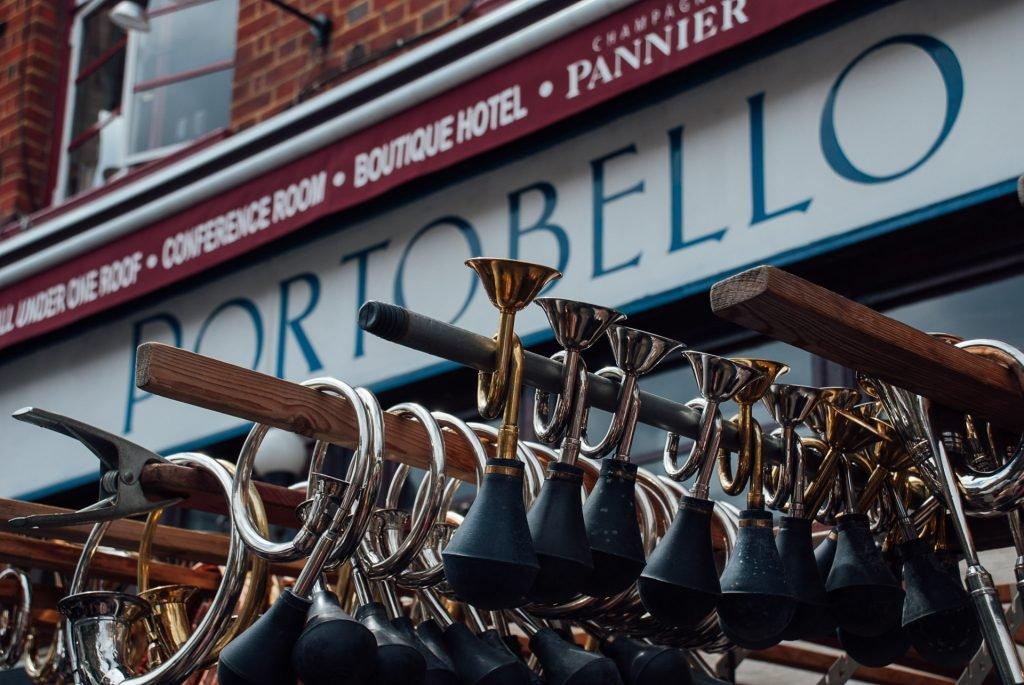 Cycle horns sold at Portobello Road Market