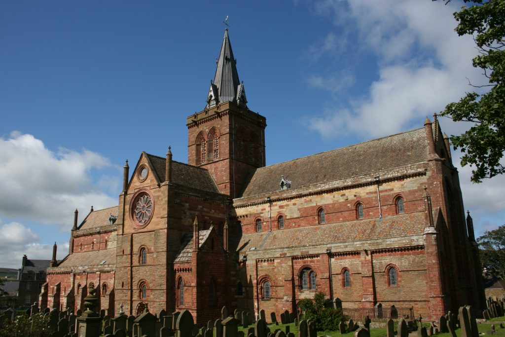 St Magnus cathedral in Kirkwall Orkney