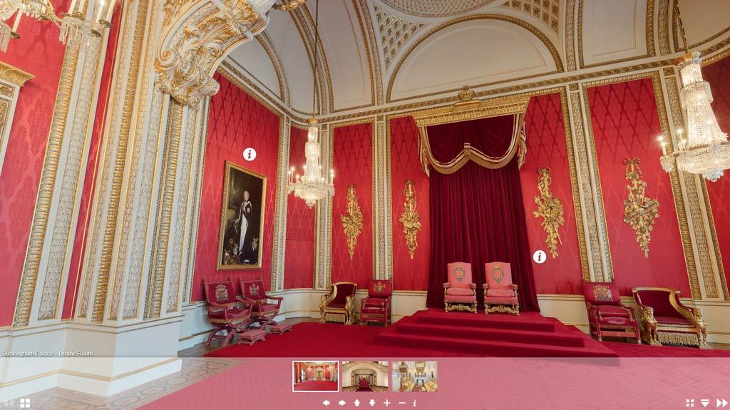 VR tour of Buckingham Palace