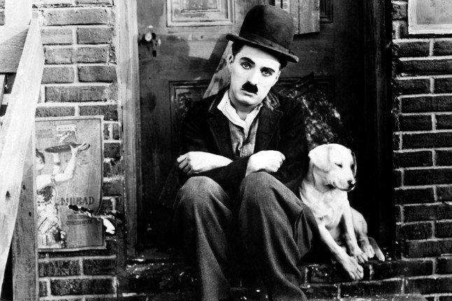 Charlie Chaplin in East Street Market