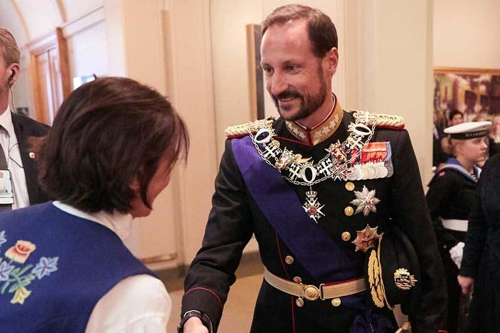 The present da Crown Prince Haakon in uniform