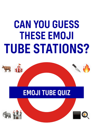 Emoji Quiz with London Tube Stations