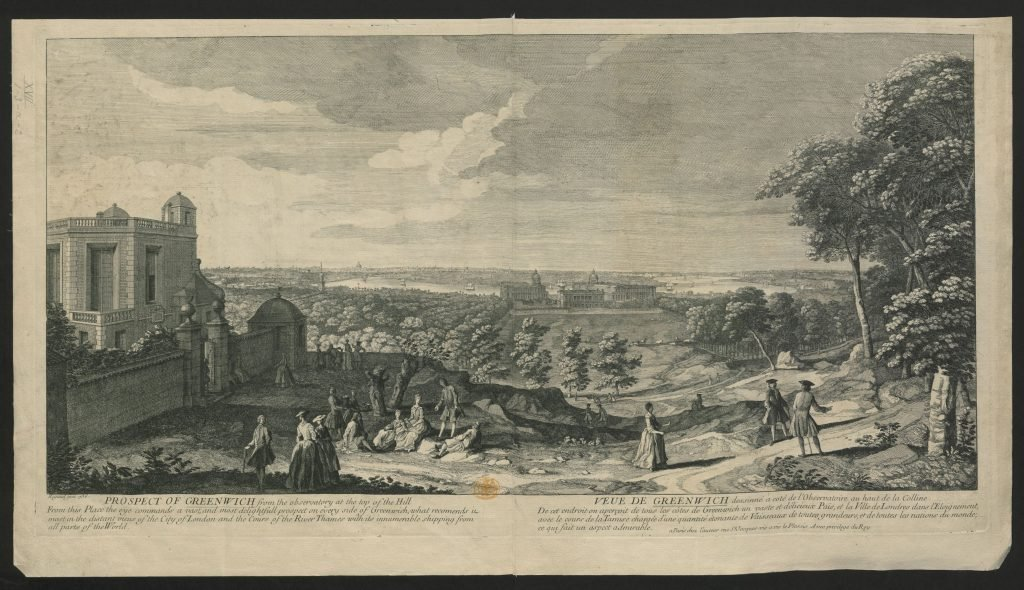 View from the Royal Observatory over Greenwich in 1736