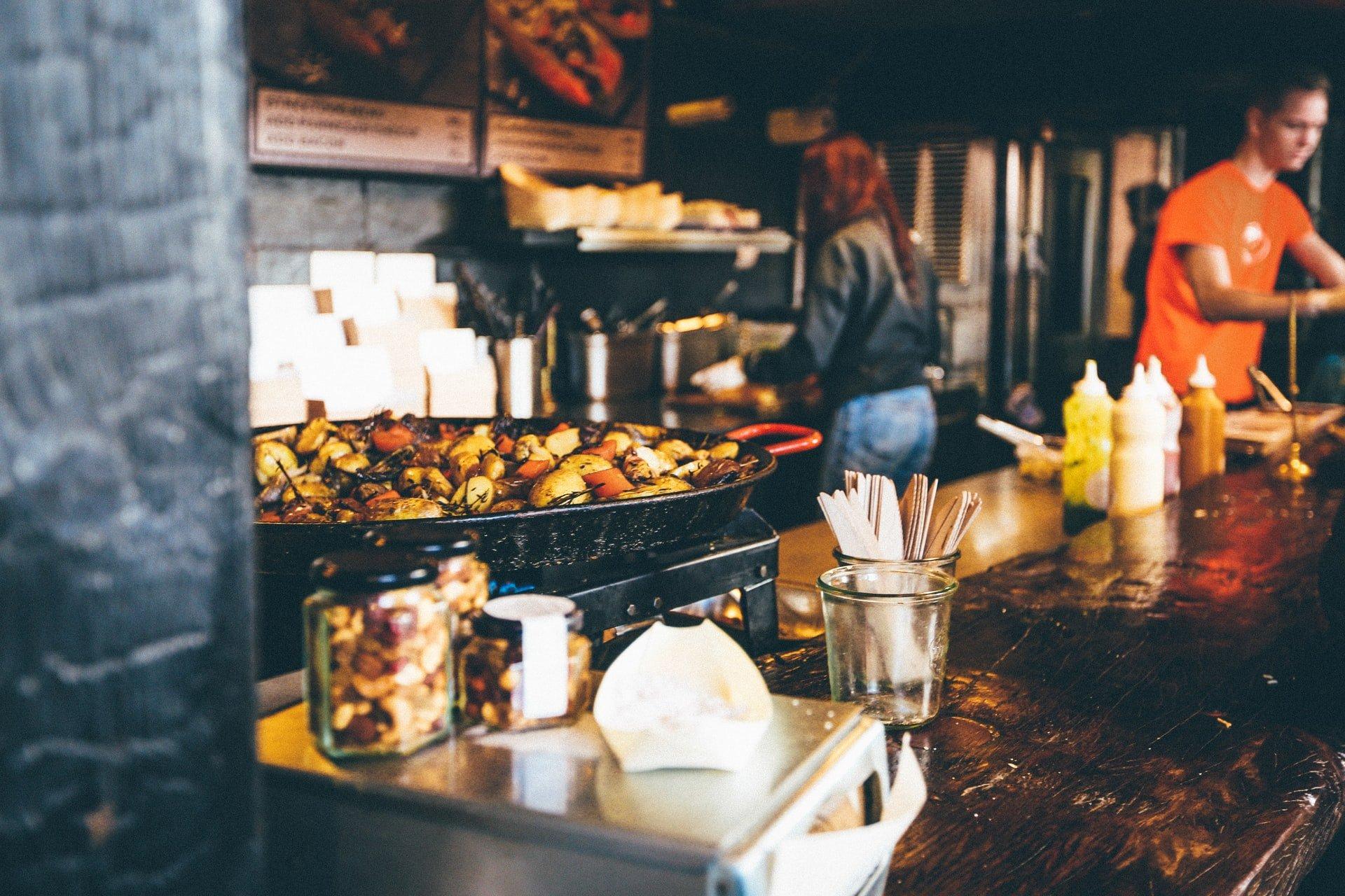 street food at Greenwich Market